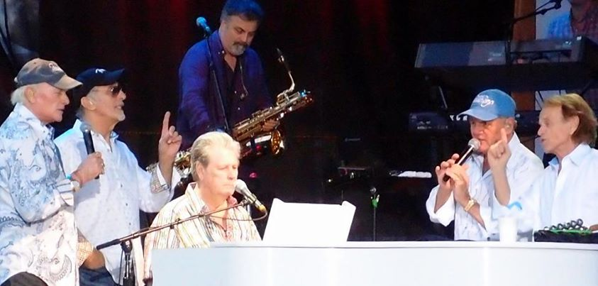 Photo: The Beach Boys - 50th Anniversary Tour  Mike Love, David Marks, Brian Wilson, Bruce Johnson and Al Jardine. Back together again in perfect 60's harmony! :)